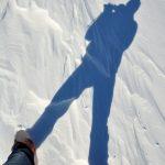 Fußstapfen im Schnee