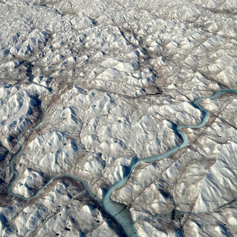 Gletscher Grönlands zur Schmelzzeit