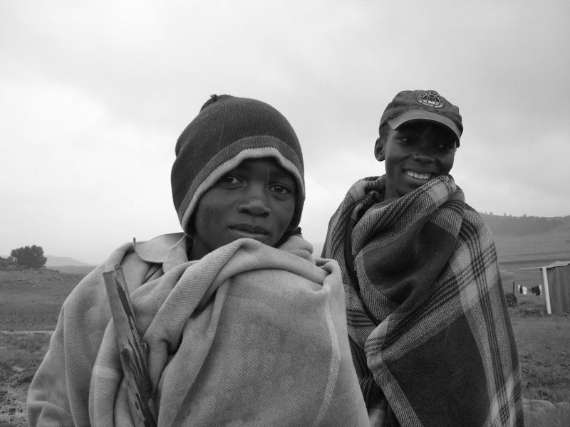 Hirtenkinder in Lesotho