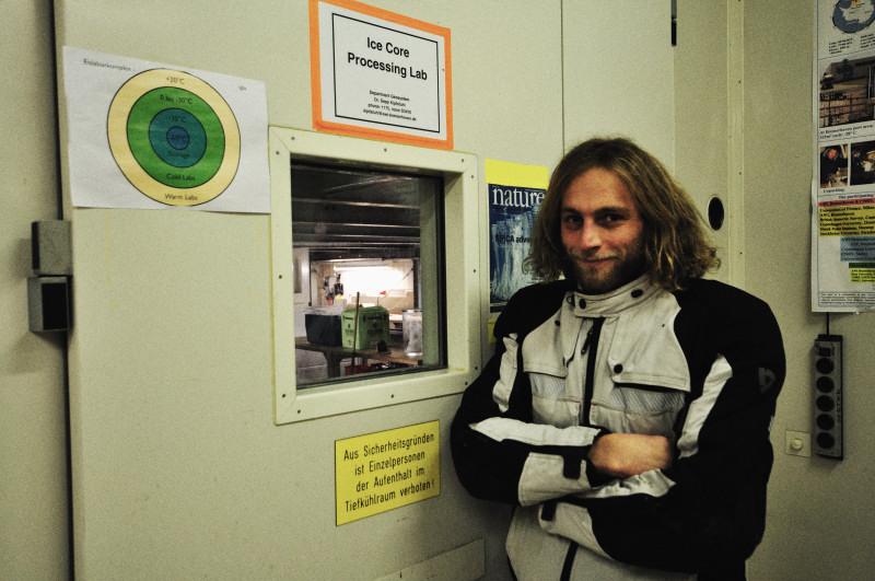 Vor der Tür zum Eislabor