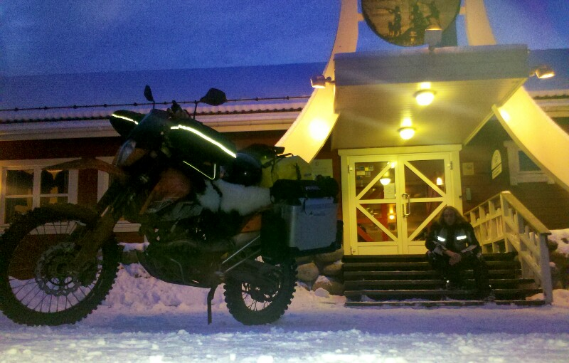 Weiterfahrt mit dem Motorrad
