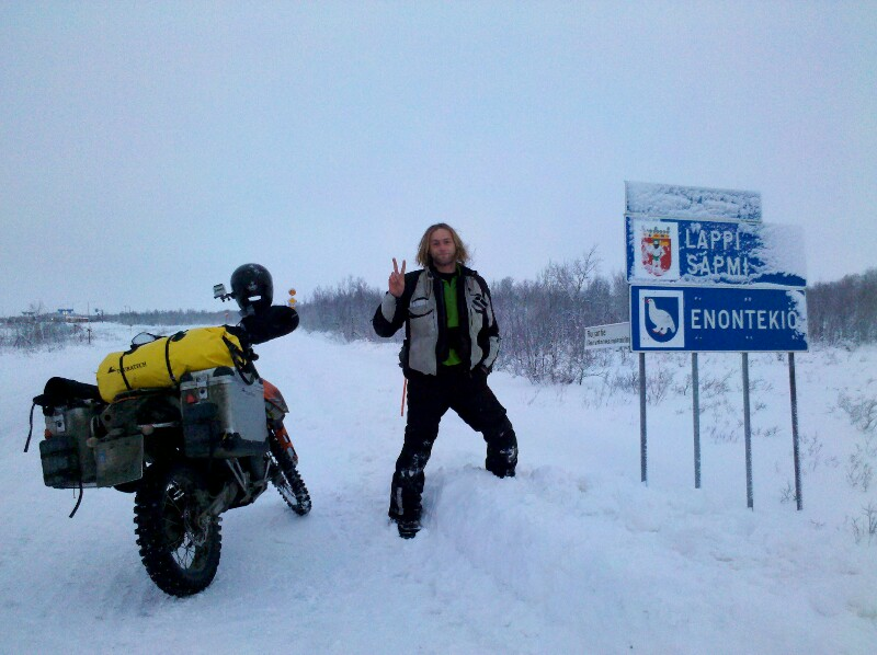 Grenze Norwegen - Finnland