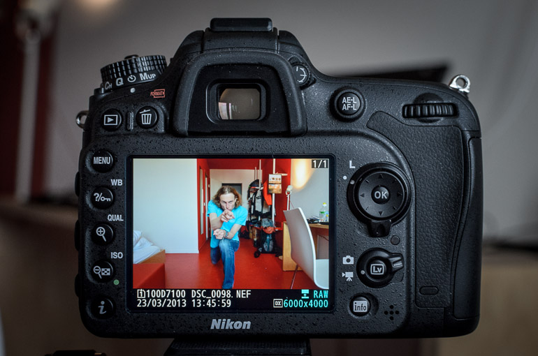 Nikon D7100 erstes Foto
