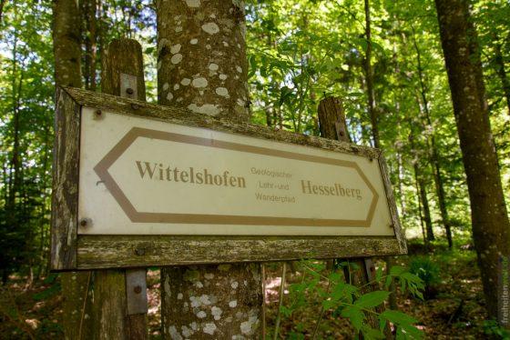 Schild beim Hesselberg