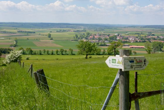 Zaun beim Hesselbergpfad