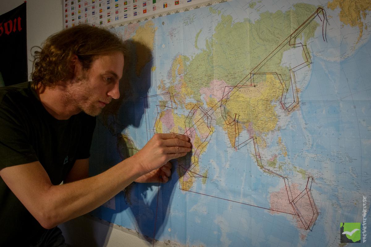 Martin Leonhardt bereitet die Weltreise vor