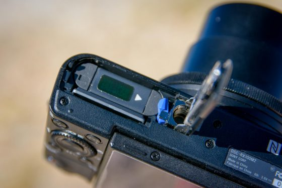 Sony RX100 II Batteriefach
