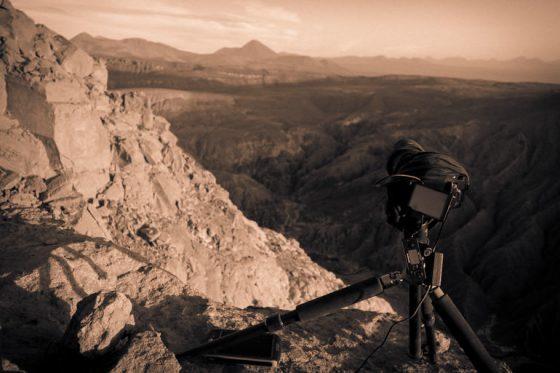Kamera auf der Klippe