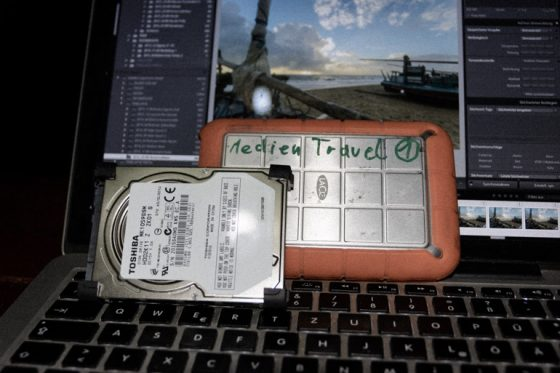 Lacie Festplatte auf Weltreise