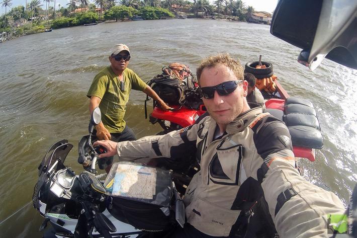 Selfie auf der Minifähre