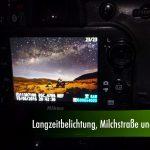 Langzeitbelichtung, Milchstrasse und Mond