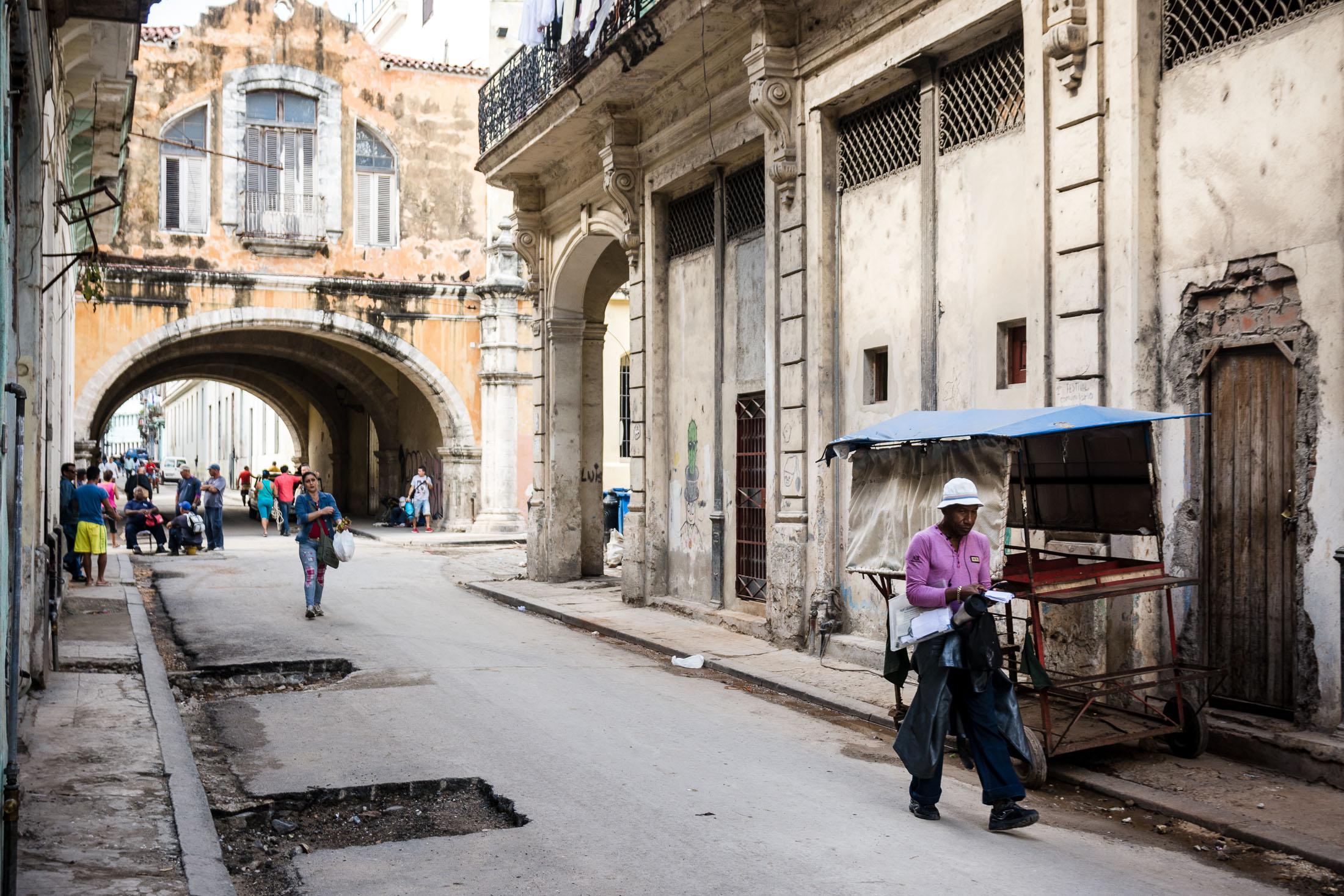 Straße in Havanna Vieja