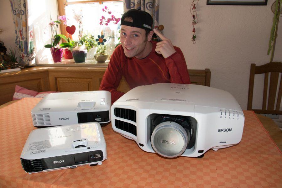 Martin mit Projektoren