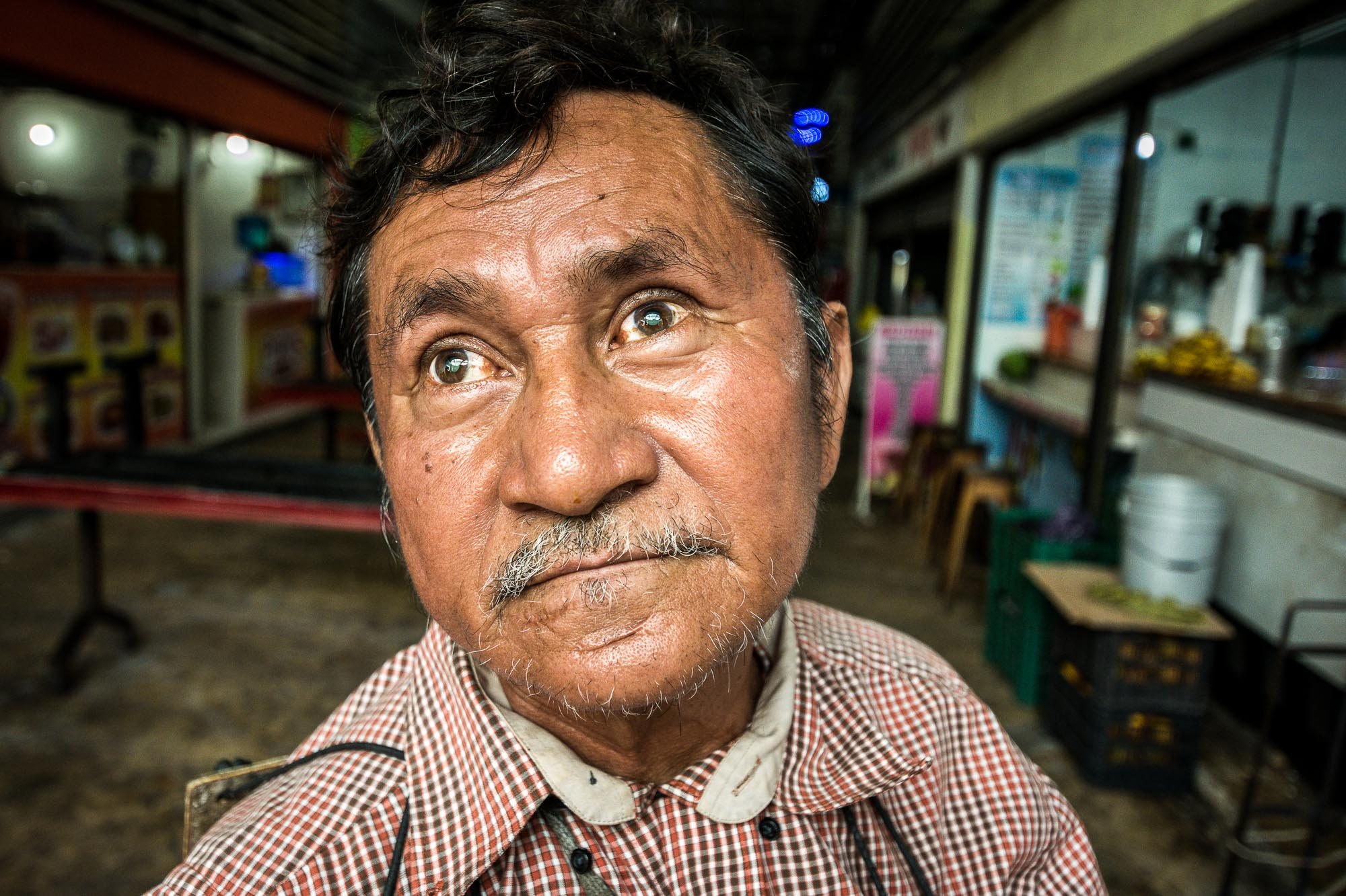 Blinder Mann Mexiko